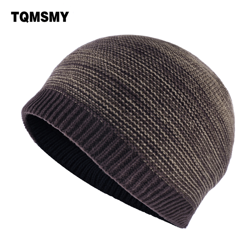 Minimalist Men's Winter Beanies Knitted wool Skullies boys Hip Hop cap autumn gorros man keep warm soft hats for men Bonnet купить