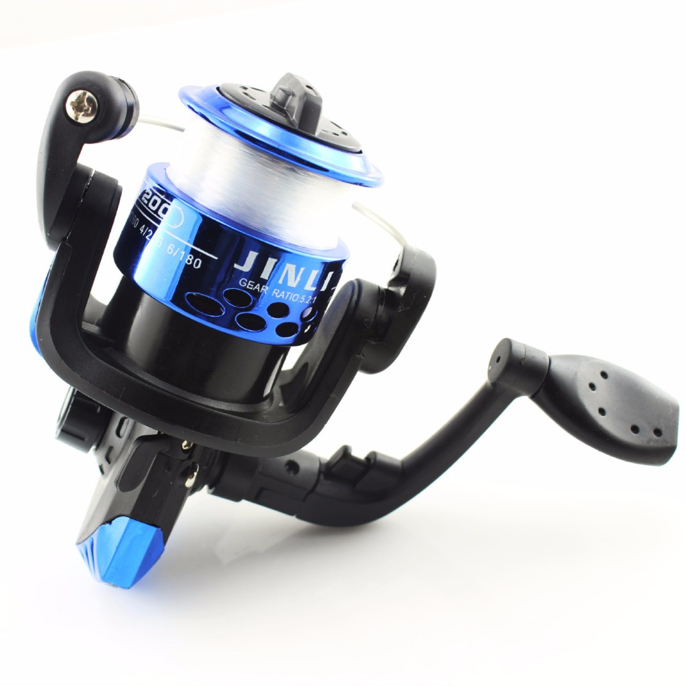 Fishing vessels 3 BB Spinning Fishing Reel High Speed G-Ratio 5.2:1 Bait Folding Rocker Casting Fish Reels with Line Wholesale 12 1 bb ball bearing left right fishing spinning reels sea fish line reel