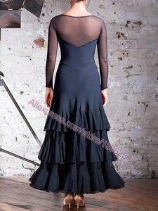 Image 5 - Vestidos de baile de competición de salón para mujer, falda de Flamenco barata, elegante, estándar, 2020