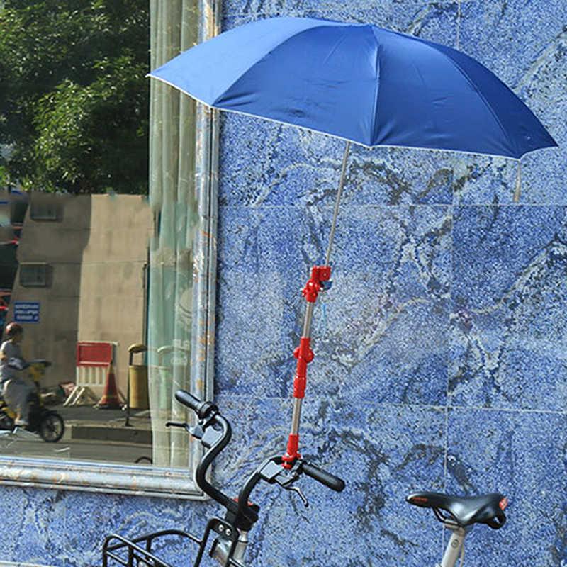 الدراجة اكسسوارات المحمولة قابل للتعديل أي زاوية دراجة كرسي متحرك عربة كرسي حامل المظلة موصل حامل مؤيد