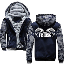 Carp Fishing Animal  Men Hoodies Male Warm Thick Velvet Solid Sweatshirt Tracksuit Men Hoodies And Sweatshirts Jacket