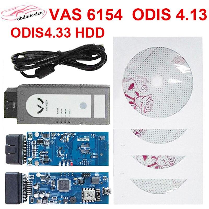 Nouveau Wifi VAS 6154 4.13 ODIS V4.13 VAS6154 VAG outils de diagnostic Pour Audi mieux que VAS5054 Un Soutien UDS Protocole
