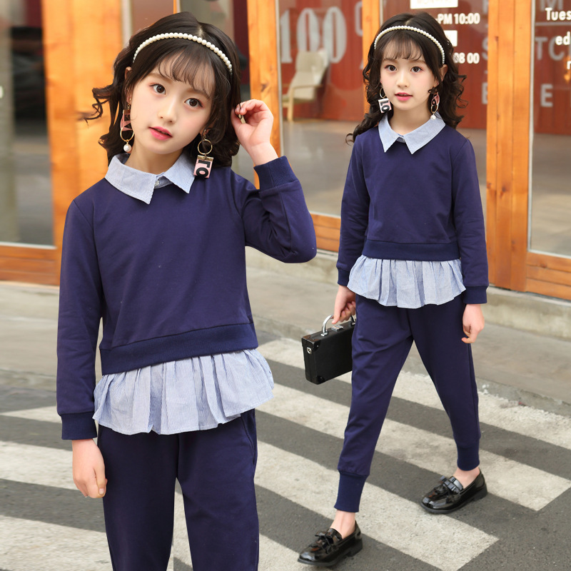 2018 Toddler Kids Baby Girls Clothes Set Autumn Long Sleeve Back To School Outfits Fashion Children Clothing Sweatshirts + Pants2018 Toddler Kids Baby Girls Clothes Set Autumn Long Sleeve Back To School Outfits Fashion Children Clothing Sweatshirts + Pants