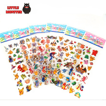 1 Sheets cartoon anime pokeball stickers for kids rooms Home decor Diary Notebook Label Decoration toy