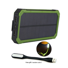 Solar Power Bank Dual USB with Flashlight for iPhone 6 6s 7 8 plus X Xr Xs max Samsung s8 s9 s10 Galaxy Note 8 9 10 etc. jy 26 universal dual usb 5000mah solar energy powered power source bank for samsung iphone white