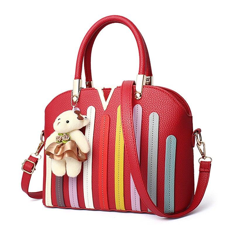 Women Bag 2017 New Bags Women 's Korean Stereotypes Fight Color Fashion Handbags Wild Leisure Messenger Shoulders Handbag