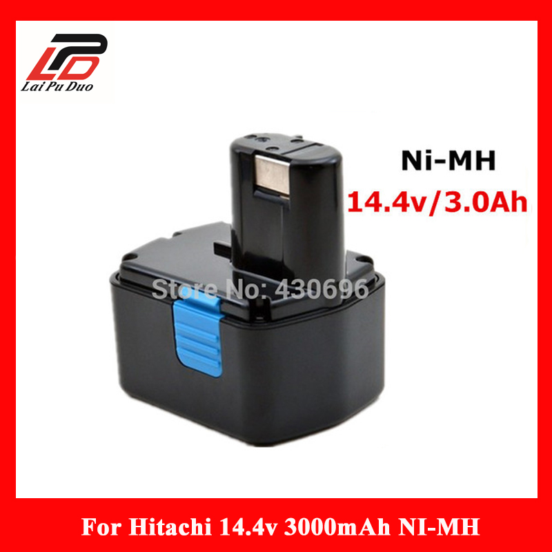 NEW 14.4v 3.0Ah Ni-MH Replacement power tool battery For HITACHI DS14DVF3 EB1412S;324367 EB1414S;315129 EB14B;EB1430H,DS14DF3 2 pcs 3 6v 2100mah ni mh rechargeable power tool battery replacement for black