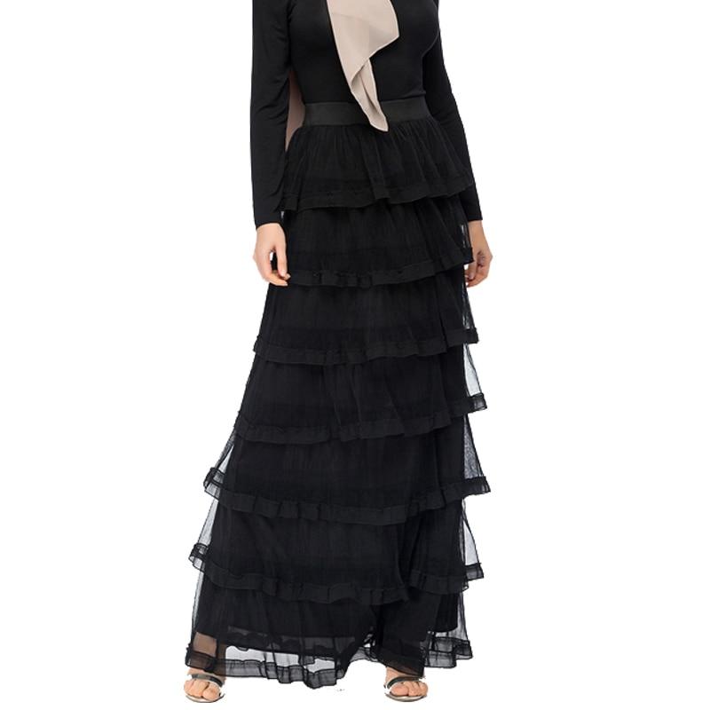 Kaftan Abaya Black Muslim Long Skirt Women Caftan Marocain Islamic Skirts Summer Turkey Ramadan Clothing Musulman Turkish Skirt