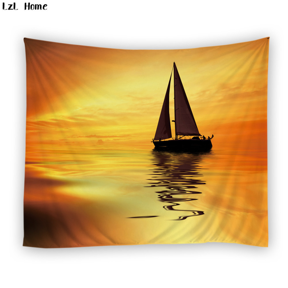 LzL Home Fancy Mysterious Cloud Sailing Tapestry For Wall Decoration ...
