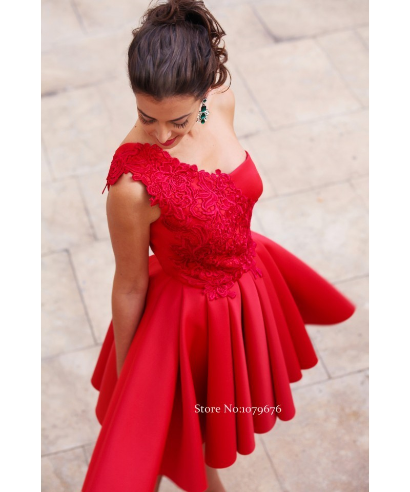 ... Short Party Gowns One Shoulder Red Homecoming Dresses Lace Juniors  Graduation Dress A-Line DSH011. conew 11-1 conew 11-2 conew 11-3. Our all  dresses can ... 9ac6c9b5eb02