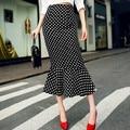 Mulheres Lace sereia saias Moda saias femininas 2015 new Ladies magro escritório workwear