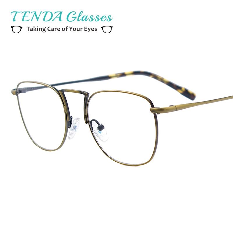 Rond en métal Lunettes Hommes Vintage Montures de lunettes Pour Verres  Correcteurs Myopie Lecture Multifocales 08456f1062c8