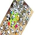 1 paket/los Kawaii Nette 3D Cartoon Panda Herz Blase Klebstoff Aufkleber Scrapbooking Kinder Dekorative Schreibwaren Aufkleber Label