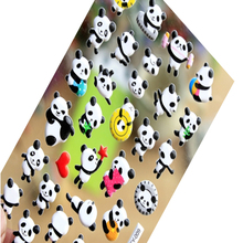 1pack/lot Kawaii Cute 3D Cartoon Panda Heart Bubble Adhesive Stickers Scrapbooking Children Decorative Stationery Sticker Label