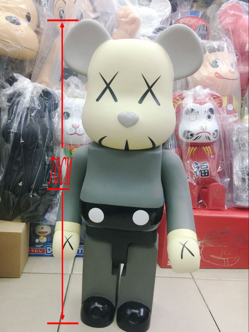 New 1000% Be@rbrick 70cm bearbrick PVC action figure Cos Kaws Bear Doll PVC ACGN figure Toy Brinquedos Anime hot selling oversize 1000% bearbrick luxury lady ch be rbrick medicom toy 52cm zy503