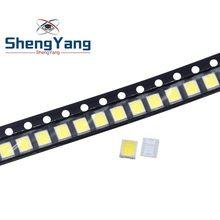 Chip de luz LED de alto brillo, 100 Uds., 21-25 LM, Blanco/Blanco cálido, 2835 SMD, 0,2 W