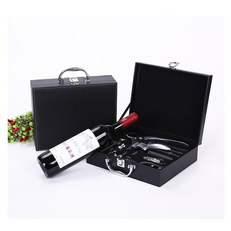 En bois rouge vin ouvre outils accueil cuisine Bar accessoires décor neuf pièces en bois boîte en forme de lapin vin Set boîtes amis cadeaux-in Autres from Maison & Animalerie    1