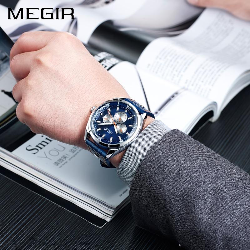 Megir luxe merk heren quartz horloges heren leger militaire - Herenhorloges - Foto 5