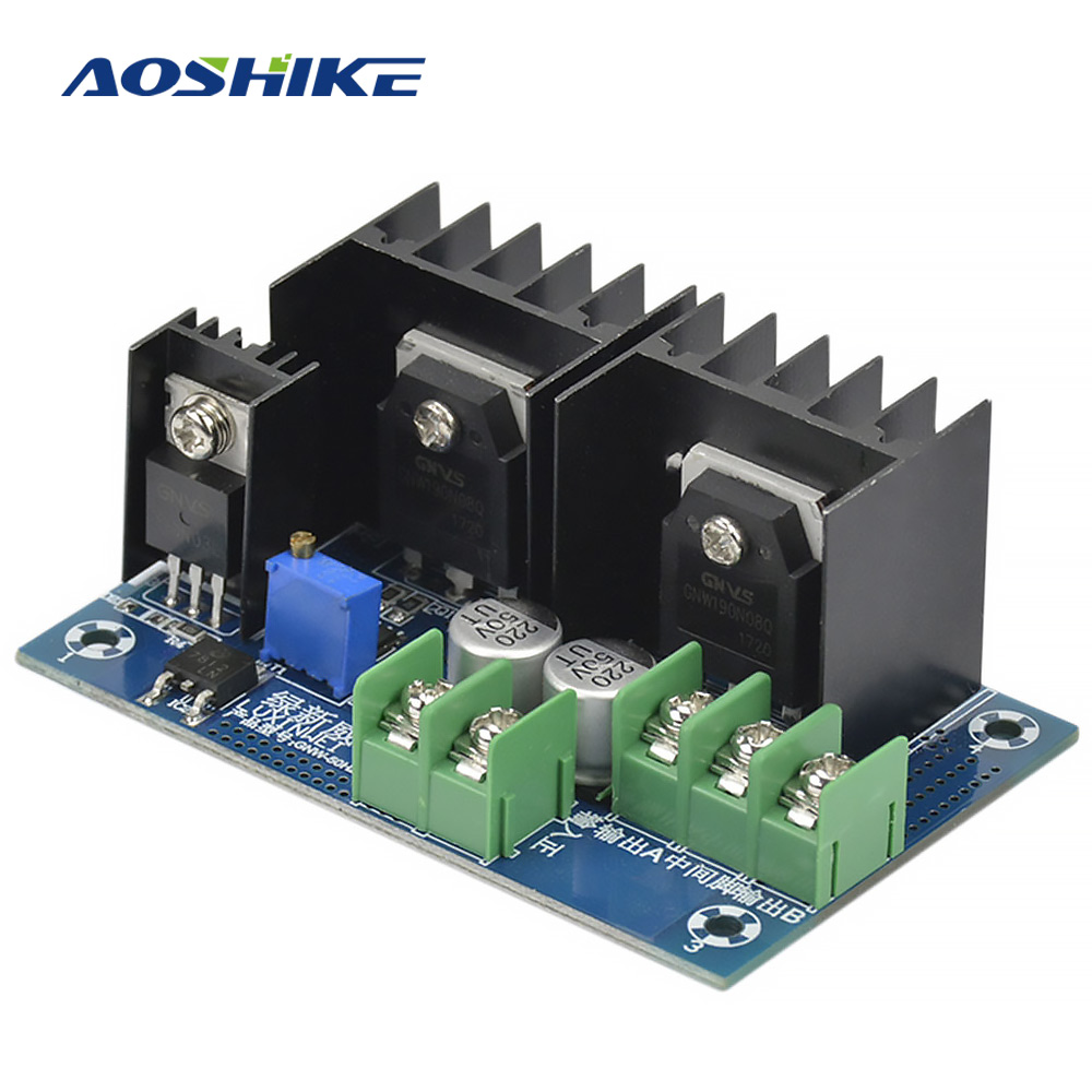 Aoshike 50HZ DC-AC DC12V To AC220V Inverter Module Low Frequency Inverter Power Frequency Transformer Drive Board inverter drive board power frequency transformer driver board dc12v to ac220v home inverter drive board