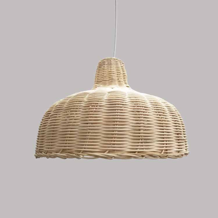 Contemporary Rattan Hanging Pendant Light Country Hand Woven Wicker Drop Home Lighting Pendant Lamp Restaurant Cafe Shop Bar Pendant Light (17)