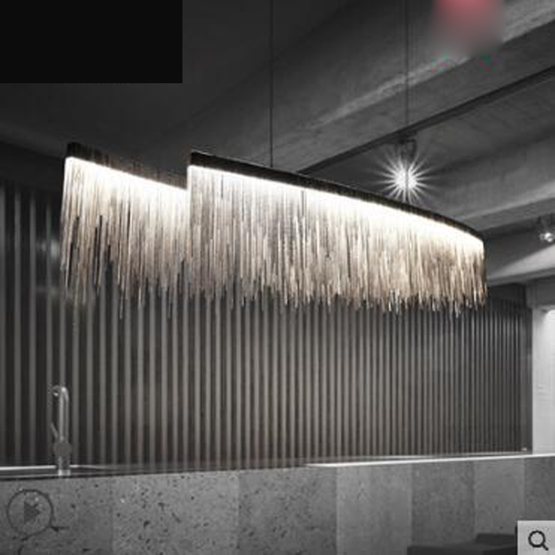 Post-modern art restaurant chandelier Nordic fringed creative atmospheric living room personality designer led bar chandelier 6 e27 heads nordic post modern designer originality personality art living bed room cafe fashion led chandelier home decor light