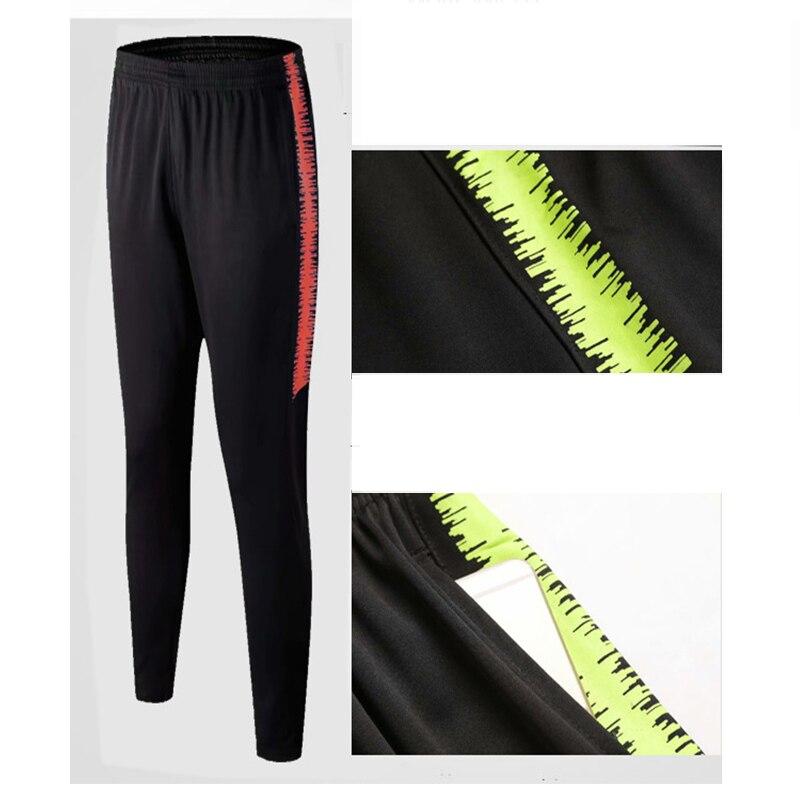 New Men's Outdoor Football Soccer Sports Pants Slim Zipper Feet Feet Pants Men's Football Training Pants