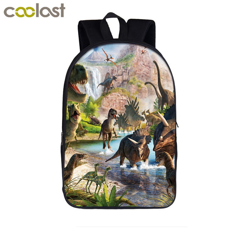 Ancient Animal Dinosaur / T-rex Backpack Teenager Boys Girls School Bags Children School Backpack Student Book Bag Kids Gift