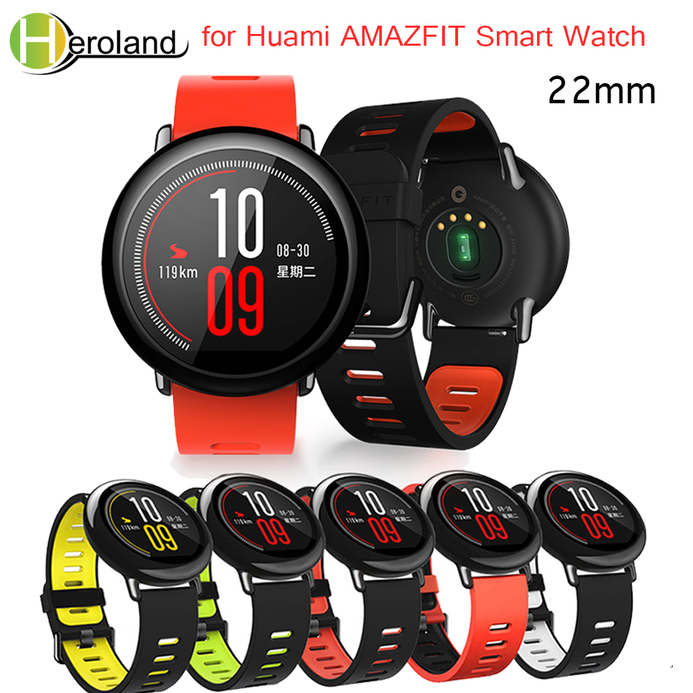 Wrist Strap 22mm Sports Silicone Bands For Xiaomi Huami Amazfit Bip BIT PACE Lite Youth Smart Watch  Replacement Band Smartwatch