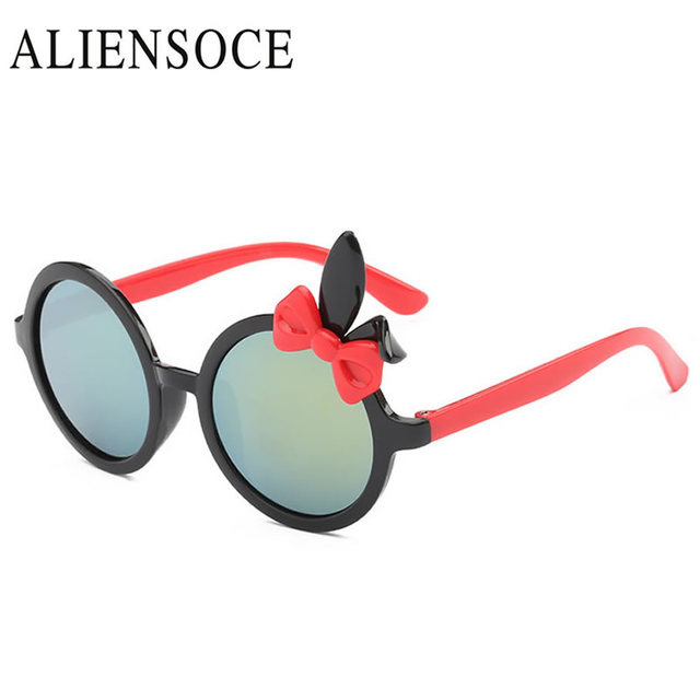 65d82178c6 Lunettes de soleil rondes fille garçons marque Design 2019 oreilles de  lapin de luxe enfants lunettes