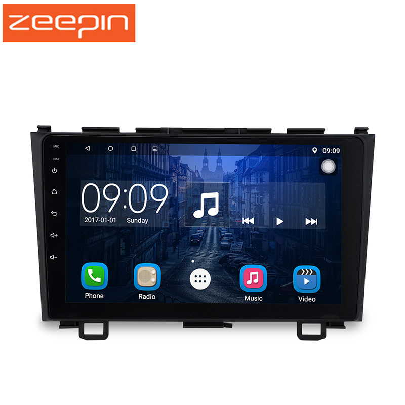 2 Din Android 6.0 lecteur multimédia de voiture pour 07-10 Honda cr-v 9 pouces écran tactile lecteur de voiture GPS Navigation DVR Radio