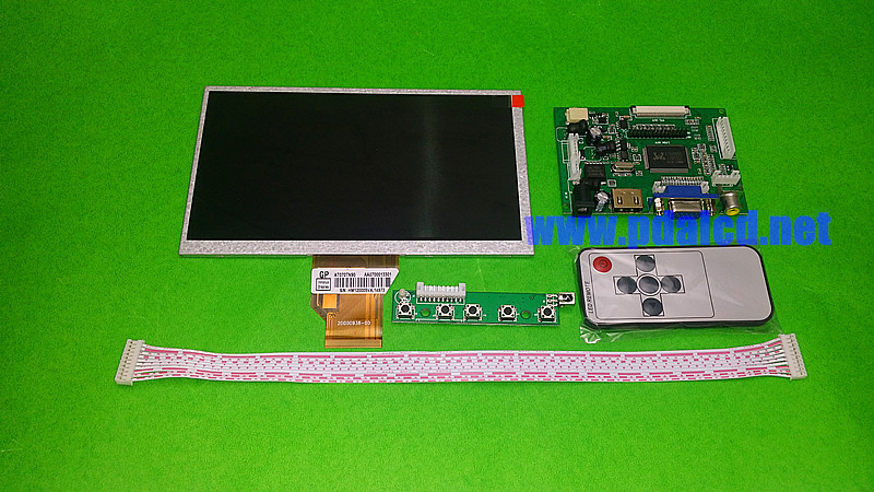 for INNOLUX 7.0 inch Raspberry Pi LCD Display Screen TFT LCD Monitor AT070TN92 + Kit HDMI VGA Input Driver Board Free Shipping raspberry pi 7 inch lcd kit hdmi vga 2av hd lcd kit for car lcd screen vga head driven plate key remote control wiring