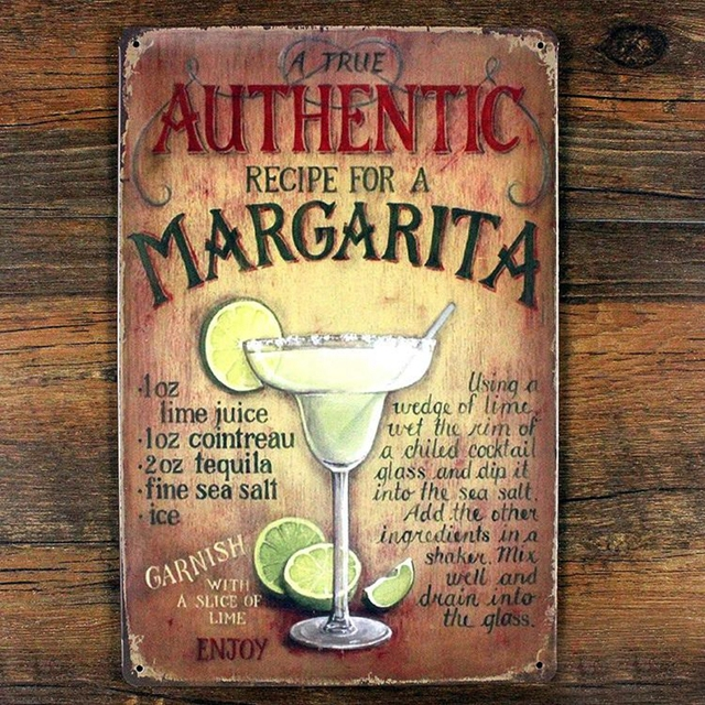 Authentic Margarita Decorative Metal Signs 20x30cm iron Painting ...