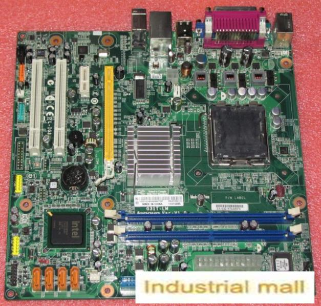 G31 motherboard A 775 DDR2 G31T-LM Desktop motherboard l-ig31a belt ide 11010085 100% tested perfect quality g41 motherboard fully integrated core 775 cpu ddr3 ram belt 4 vxd ide usb 100% tested perfect quality