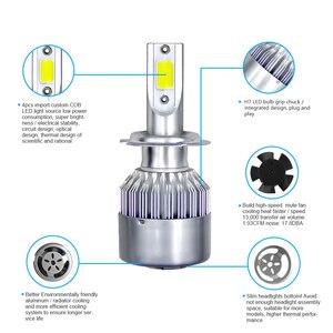 Image 2 - Jeuzn 2 PCS 6000K H7 LED Car Headlight H4 Bulb H1 H11 H3 H8 H9 9005 HB3 9006 HB4 H27 9007 36W 8000LM Turbo Auto Lamps Fog Lights