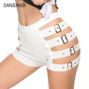 DANJEANER Euro Style Women Sexy Hollow Out Hot Pants Summer High Waist Nightclub Mini Shorts Plus Size Short Feminino