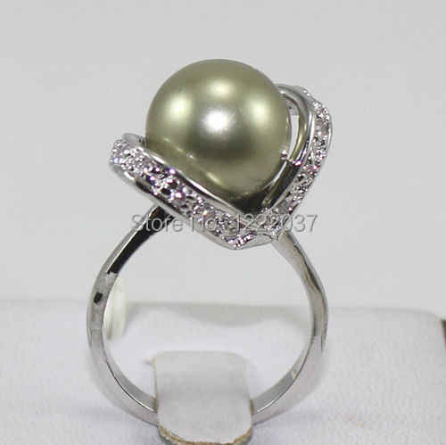 new 5 color blue/green/pink shell pearl&red coral&crystals  Ring size:7-9