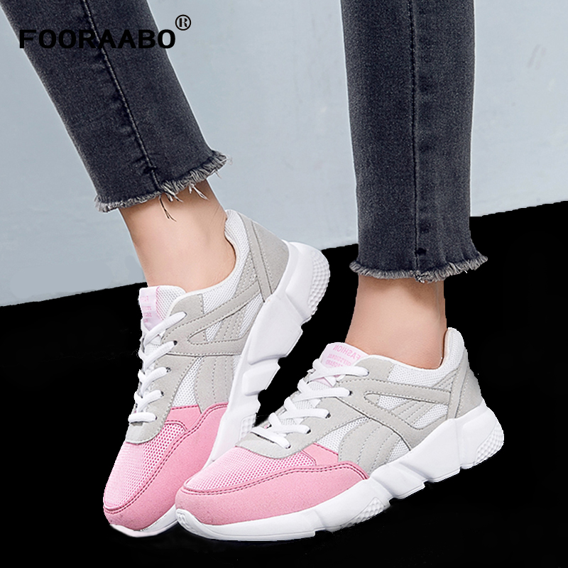 New Fashion Women Shoes Casual Platform Sneakers Shoes For Women Spring Breathable Mesh Flat Shoes Female Chaussure Femme fashion embroidery flat platform shoes women casual shoes female soft breathable walking cute students canvas shoes tufli tenis