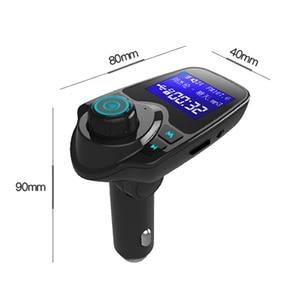 Image 2 - Bluetooth Trasmettitore FM USB Kit Per Auto Aux 12V Lecteur USB Voiture In Metallo E Plastica MP3 Lettore Auto Per Auto ABS Bluetooth MP3