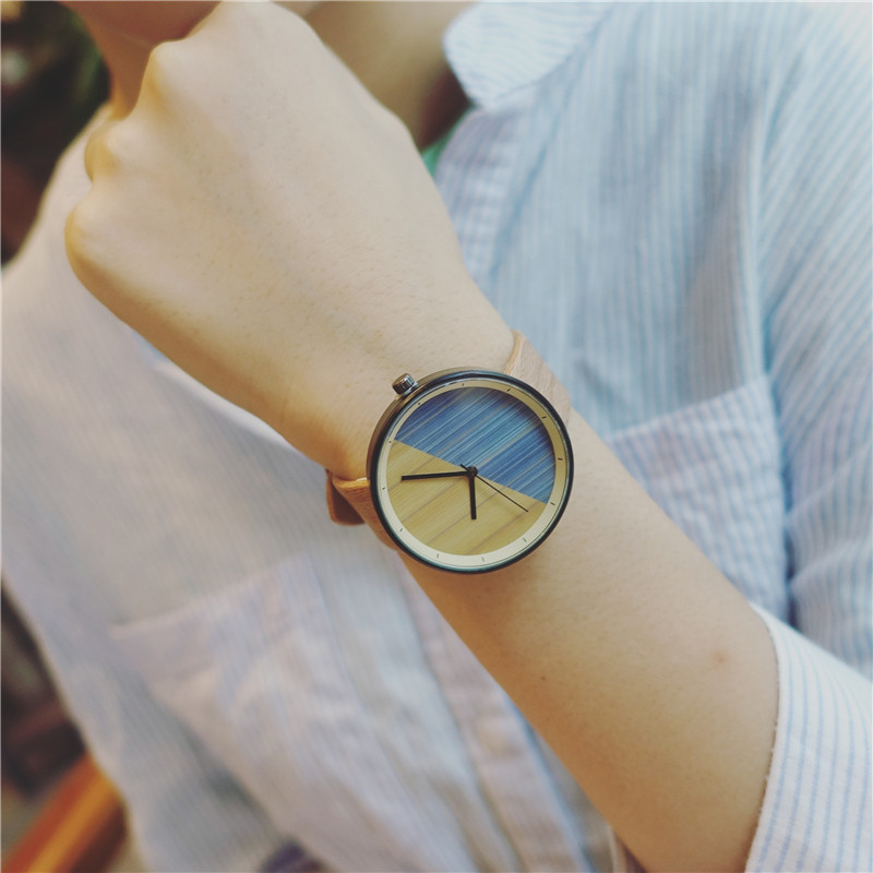 BGG Imitation Wood Grain Watches Simple Wooden Vintage Female Wristwatches Brand Fashion Gift Women Casual Clock Hours Relogio bobo bird brand new sun glasses men square wood oversized zebra wood sunglasses women with wooden box oculos 2017