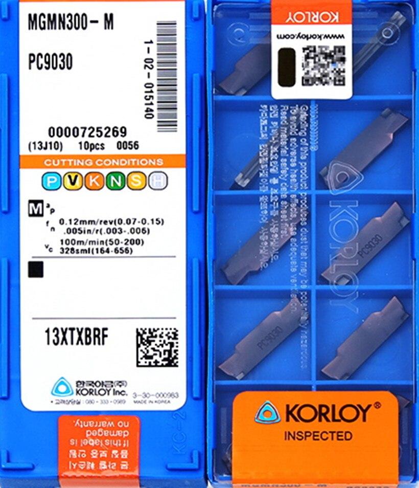 10pcs KORLOY MGMN300-M PC9030 Carbide Inserts