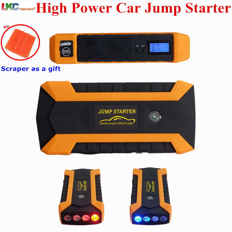 High Capacity 12V Multi-Function Emergency Car Jump Starter 4USB Power Bank Compass SOS Light Car Charger Emergency Battery 13500mah 12v multi function mobile power bank tablets notebook phone ca r auto eps starter emergency start power