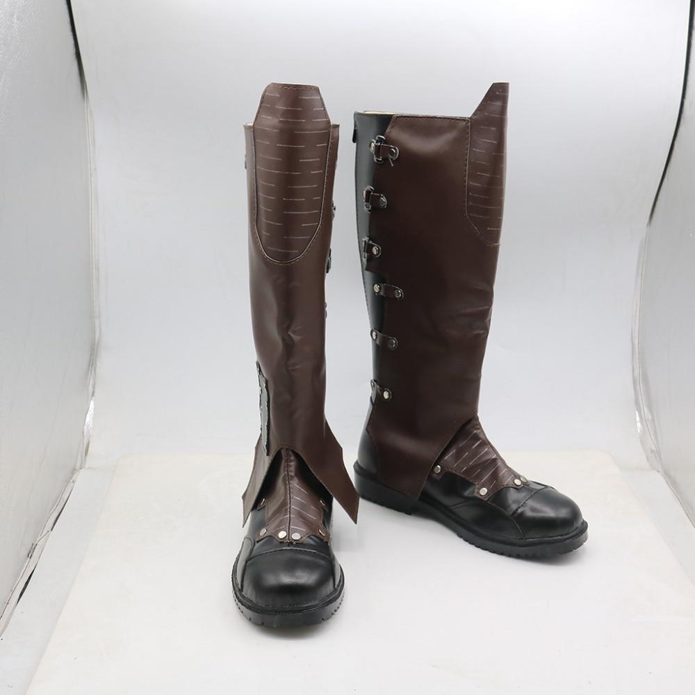 US $62.99 10% OFF|Cosplaydiy Film Guardians Of The Galaxy Peter Quill Stern Herr Cosplay Schuhe Stiefel Erwachsene Herren Stiefel L320 in Schuhe aus
