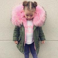 Neonate del Cappotto di Inverno Faux Fur Fodera Giacche Per Boy Parka Tuta Sportiva dei bambini Del Cappotto Del Bambino Delle Ragazze Addensare Cappotto di Pelliccia Caldo 1-8 T