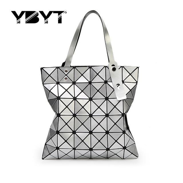 YBYT марка 2017 мода лазерная сумка геометрическая средний сумки hotsale женщины торговый пакет дамы плеча crossbody сумки