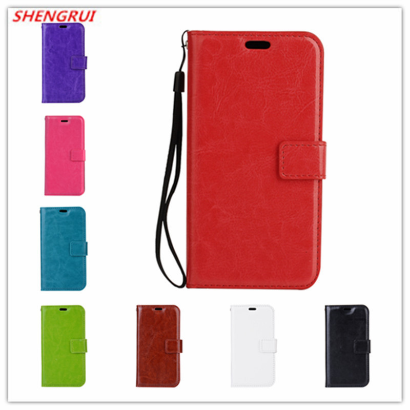 50pcs lot New Crazy horse grain wallet PU Leather case with card holder For Samsung Galaxy