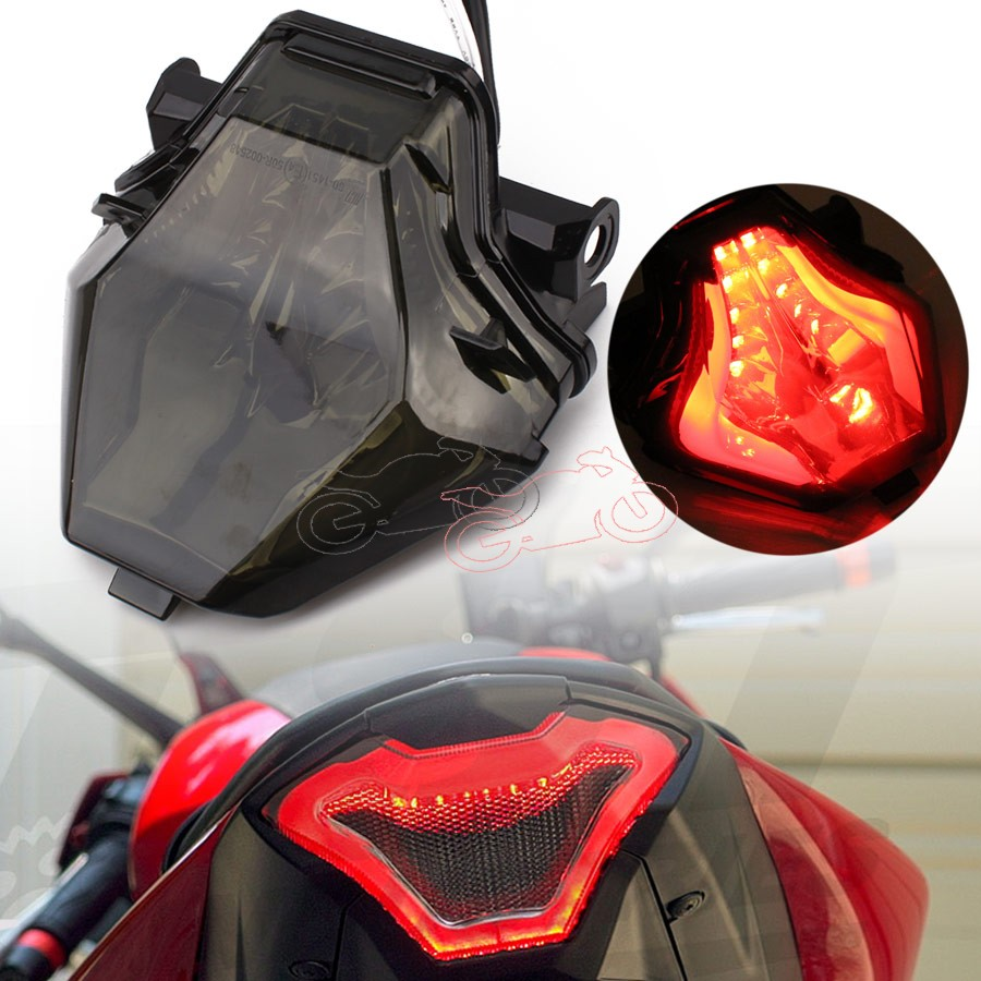 Motorcycle Smoke Lens LED Integrated Brake Stop Warning Taillight+Turn Signals Tail Light For Yamaha R3 R25 MT07 2013 2014 2015