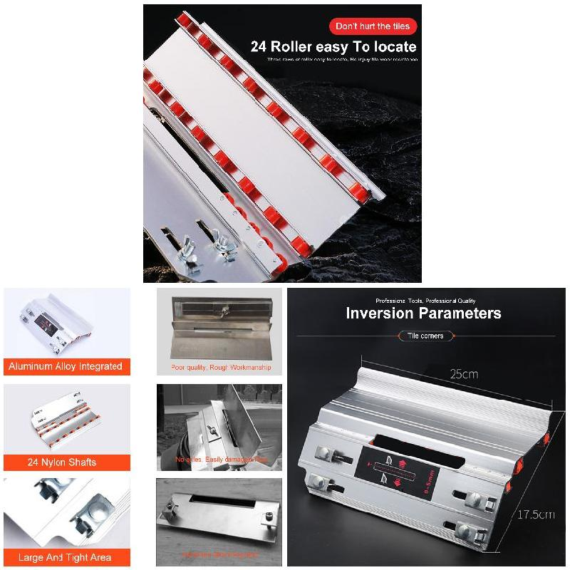 Tile 45 Degree Angle Cutting Helper Tool Aluminum Alloy Multifunctional Accessories BDF99