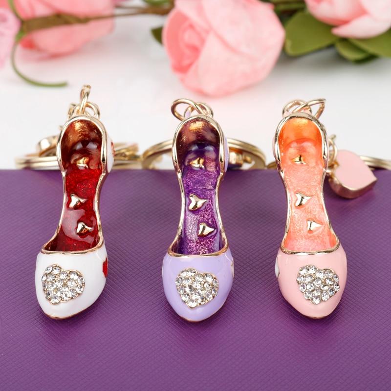 Кошелек Jewelry Сумка Сумочка брелок Подвески Key Holder Сумки Ювелирные изделия 3D Обувь на высоких каблуках брелок жемчуг помада Подвески брелки