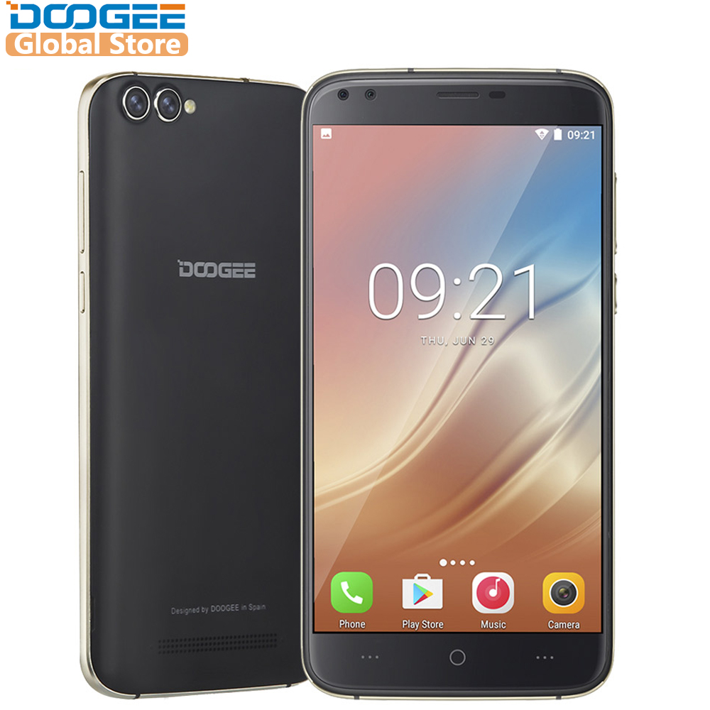 DOOGEE X30 Quad Cámara 2x8,0 MP + 2x5,0 MP Android 7,0 teléfono móvil 3360 mAh 5,5 ''HD MTK6580A Quad Core 2 GB RAM 16 GB ROM Smartphone