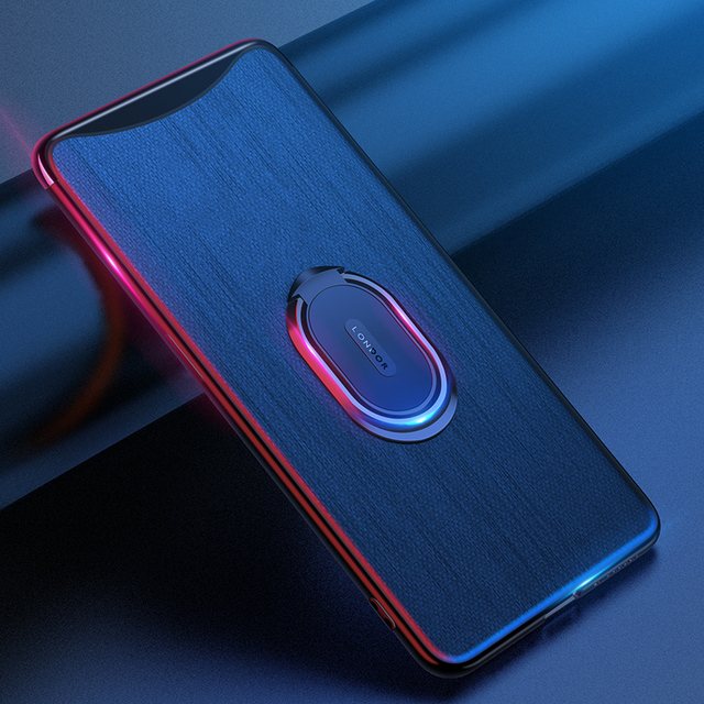 For OPPO Find X Case Luxury Magnetic Ring Holder Bracket leather Phone Case For Oppo Find X  FindX Cover Coque